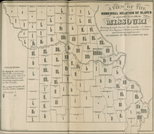 This is an 1850's Slave Density Map